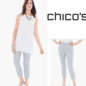 So Slimming by Chico's pull on pinstripe pants